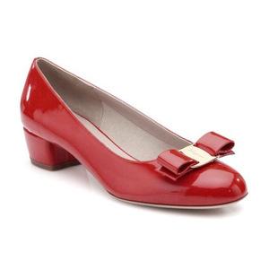 菲拉格慕(Salvatore Ferragamo) Vara Patent 女式蝴蝶结单鞋 #红色 #Red