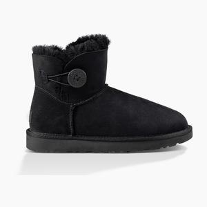UGG MINI 贝莉纽扣雪地靴 II #Select color 黑色 #Select color BLACK
