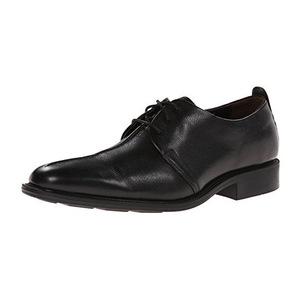 可汗(Cole Haan) Men's Cain Cntr Seam Oxford男式系带牛津鞋 #Black