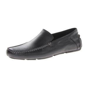 卡尔文·克雷恩 卡尔文克莱恩-男式Miguel黑色皮革无鞋带乐福鞋皮鞋 #Black