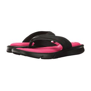 耐克 女士休闲凉鞋 #Black/Vivid Pink/White