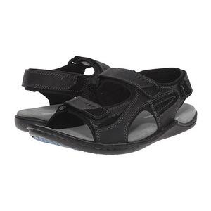 暇步士 男士凉鞋 #Black Waxy Leather
