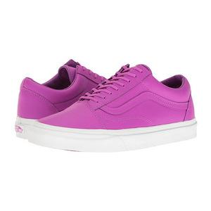 万斯(Vans) Old Skool #Neon 真皮 Neon PurpleTrue 白色 #(Neon Leather) Neon Purple/True White