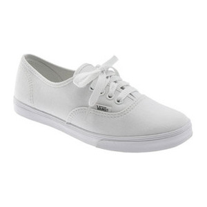 万斯(Vans) Authentic - Lo Pro女式低帮帆布鞋-True 白色 #True White