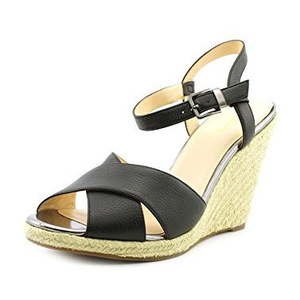 可汗(Cole Haan) Women's Hart Wedge Sandal #Black