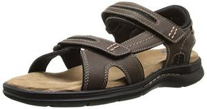 道格斯(Dockers) 男式Solano Gladiator深棕色凉鞋 #Dark Brown