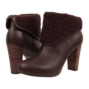 UGG 女士靴子 #Lodge Knit/Leather