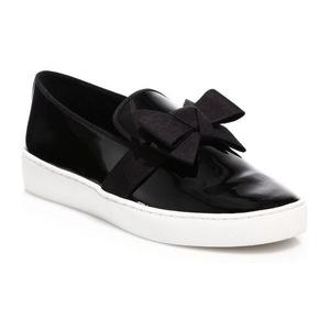 Michael Kors Collection 女士皮革鞋面休闲鞋 #Black