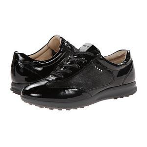 ECCO Golf 女士亮黑运动鞋 #Black