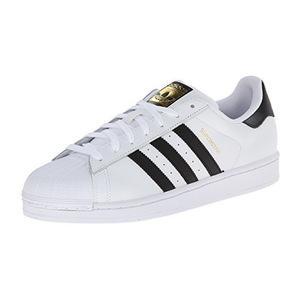 阿迪达斯(Adidas) Superstar系列经典男士运动鞋 #White / Core Black / White