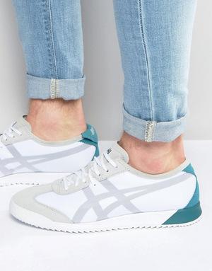 鬼冢虎(Onitsuka Tiger) 女士白色运动板鞋 #White