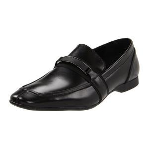 卡尔文·克雷恩(Calvin Klein) Shane 男式黑色无鞋带休闲皮鞋 #Black
