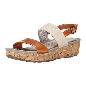 美国乐步(Rockport) Women's Land Boulevard 2 Band Ankle Platform Sandal #Valigia/Natural