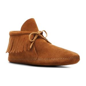 迷你唐卡(Minnetonka) 女士经典流苏靴子 #Cognac
