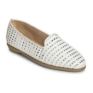 爱柔仕(Aerosoles) Womens Betunia 一脚蹬乐福鞋 #白色 #White