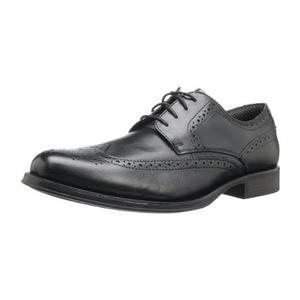 道格斯(Dockers) 男式Moritz Wingtip黑色皮鞋 #Black