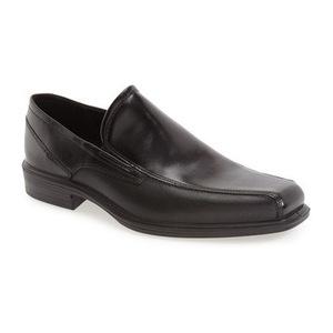 爱步 男士休闲乐福鞋 #Black Leather