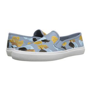 蔻驰(Coach) 花朵图案一脚蹬平底鞋 #Cornflower/Cornflower