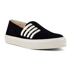 玖熙 女士休闲鞋 #Black/ Off White Suede