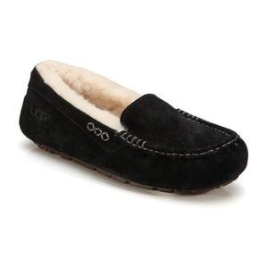 UGG Australia-皮毛一体冬季女式豆豆鞋 #黑色 #Black