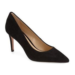蔻驰(Coach) 女士经典高跟鞋 #Black Suede