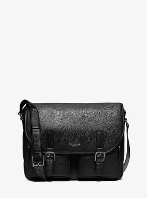 迈克高仕 Bryant 真皮 CargoPocket Messenger Bag #黑色 #BLACK