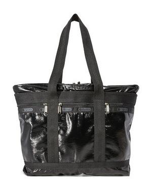 力士保 中号旅行手提袋 #黑色漆皮