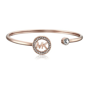 迈克高仕(Michael Kors) Rose GoldTone MK Logo Bangle 手镯