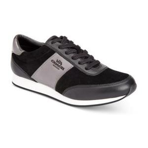 蔻驰(Coach) 女士板鞋 #BLACK/GUNMETAL