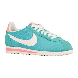 耐克(NIKE) Classic Cortez  Womens #水洗 TealSailAtomic PinkSilver  Width  B  中号  Textile #Washed Teal/Sail/Atomic Pink/Silver | Width - B - Medium | Textile