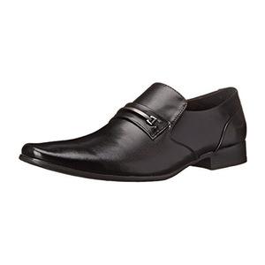 卡尔文·克雷恩(Calvin Klein) 卡尔文克莱恩-男式Brennan黑色乐福鞋皮鞋 #Black