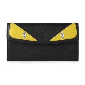 芬迪(Fendi) 小怪兽女士钱包 #Black-Cedar