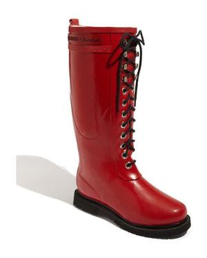 ILSE JACOBSEN Hornbæk Rubber Boot 女士 Wide 牛犊皮 #红色 #Red