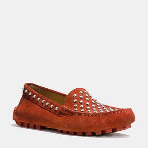 蔻驰(Coach) 女士软皮平底鞋 #TERRACOTTA