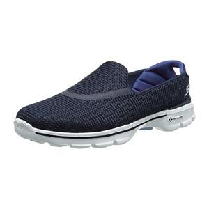 斯凯奇 女士一脚蹬健步鞋 #Navy/White