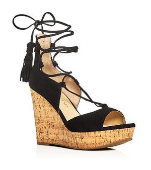 伊万卡·特朗普 坡跟鞋 #Black