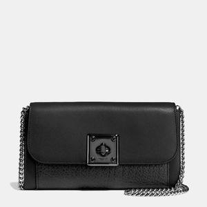 蔻驰(Coach) DRIFTER 钱包 in glovetanned 真皮 #MATTE BLACKBLACK #MATTE BLACK/BLACK