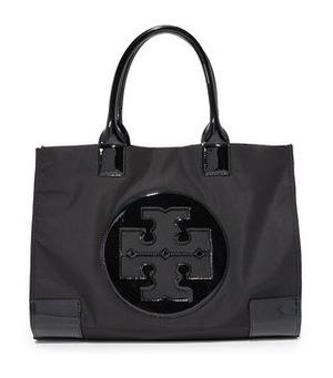 汤丽柏琦 Ella 尼龙手提袋 #黑色