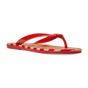 迈克高仕(Michael Kors) MICHAEL  MK Jet 套装 Jelly 凉鞋 #梅红 #Crimson