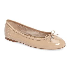 山姆爱德曼(Sam Edelman) Felicia 平底鞋 #肤色亚麻真皮 #Nude Linen Leather