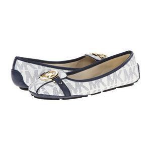 MICHAEL Michael Kors 女士休闲鞋 #White/Navy Mk Sig Pvc