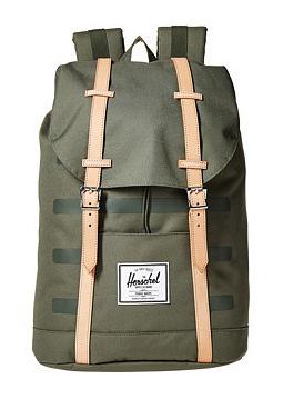 赫歇尔(Herschel Supply) CoRetreat #Deep Lichen 绿色 StripeVeggie 棕黄真皮 #Deep Lichen Green Stripe/Veggie Tan Leather