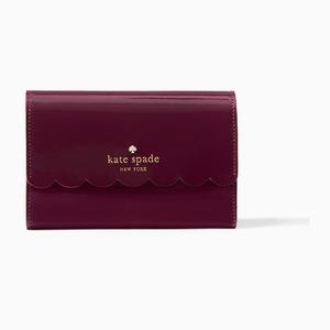凯特·丝蓓(Kate Spade) 女士钱包 #Mahogany/radish