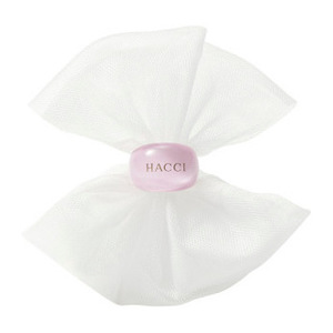 日本HACCI 1912花绮 蜂蜜洁面皂专业起泡网 附粉色指环 洁面皂拍档 轻松打出绵密泡沫