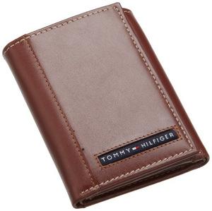 汤米·希尔费格(Tommy Hilfiger) 男士折叠钱包 #Tan