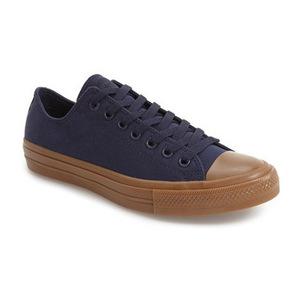匡威(Converse) Chuck Taylor All Star II 低帮帆布鞋帆布运动鞋男士 #黑曜色树胶 #Obsidian/ Gum
