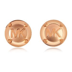 迈克高仕(Michael Kors) Heritage MK Logo 耳钉 #玫瑰红金色 #Rose Gold