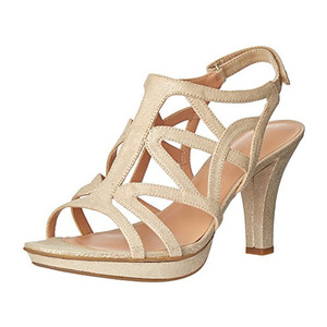 娜然(Naturalizer) Womens Danya Platform Dress Sandal #褐色金色 #Taupe/ Gold