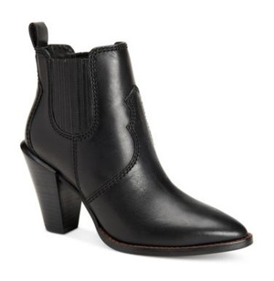 蔻驰(Coach) 女士低跟短靴 #BLACK