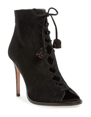 蔻驰(Coach) 女士系带靴 #Black Suede